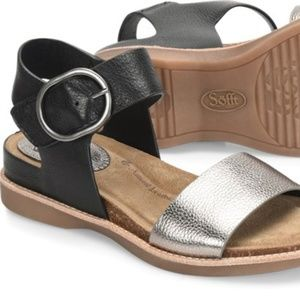 Sofft Women's Bali Black/ Anthracite Sandal Size 8